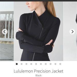 Lululemon precision jacket , black, size 6
